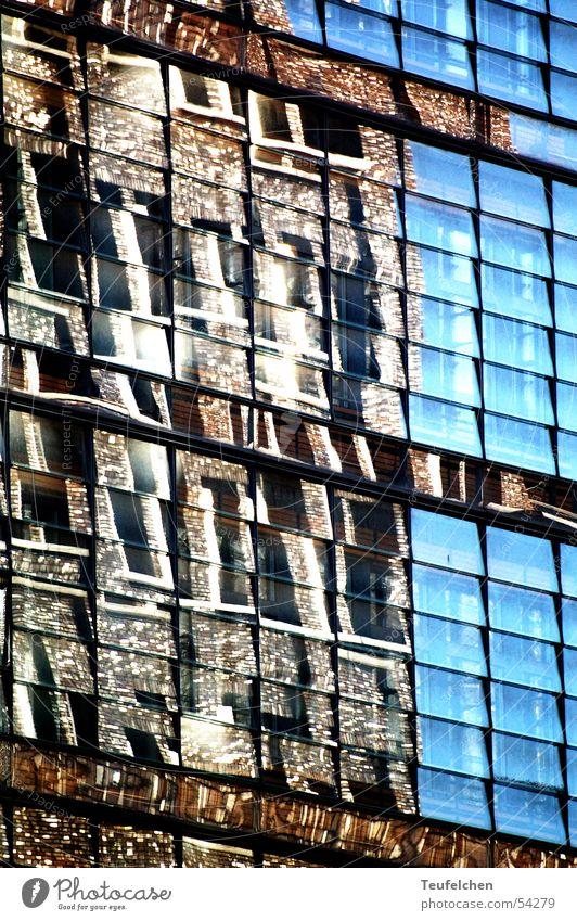 Fensterspiegel Potsdamer Platz Haus Spiegel Etage Quadrat Hauptstadt Reflexion & Spiegelung Sonne Arbeit & Erwerbstätigkeit Stadtteil Glas Architektur