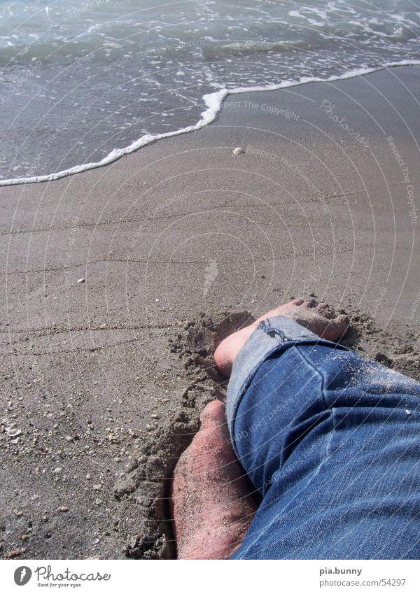 relaxing Wasser Meer Strand Fuß Florida
