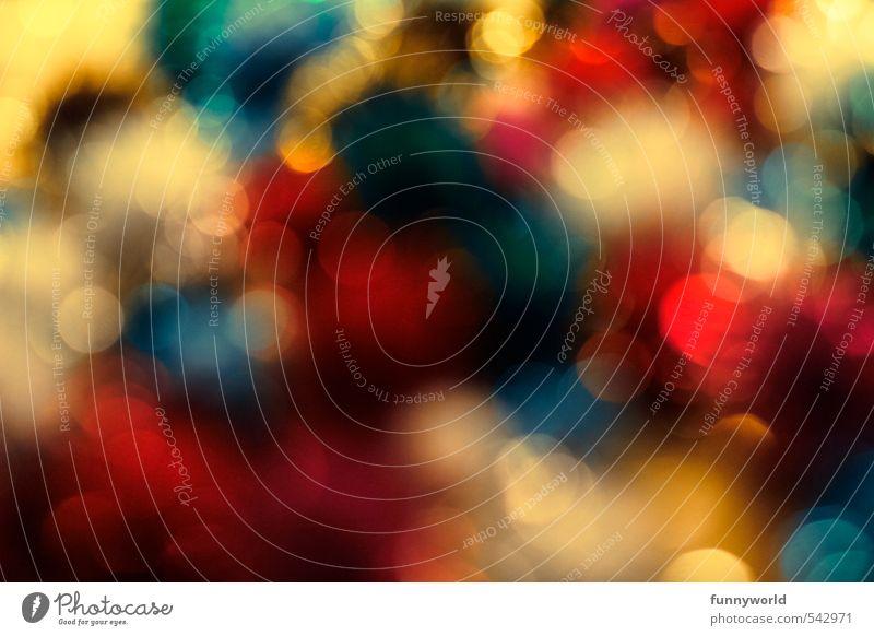 weihnachtsbunt Kunst glänzend blau mehrfarbig gold rot weiß Freude Glück Fröhlichkeit Begeisterung chaotisch Farbe Kitsch Lebensfreude Reichtum Stimmung