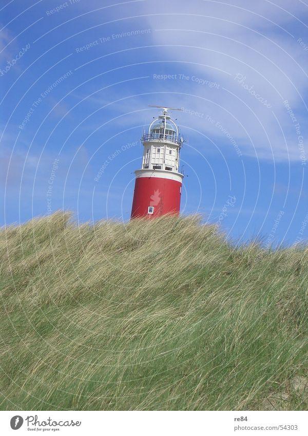 Der Schiefe Turm von Texel Himmel blau grün Farbe weiß Erholung Meer rot ruhig Wolken See Wind Turm Neigung Stranddüne Sturm