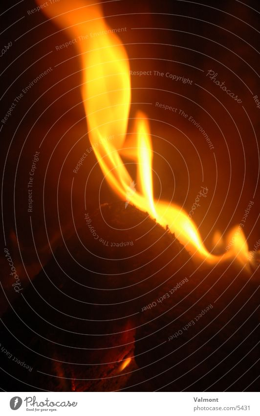 flamme II brennen Kamin Fototechnik Brand Flamme