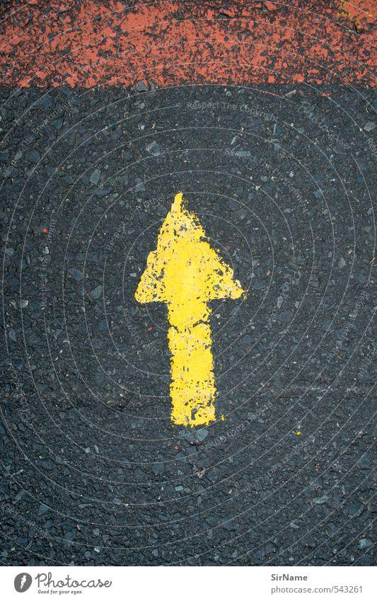 246 [up] Stadt rot schwarz gelb Straße Wege & Pfade oben Linie Verkehr Schilder & Markierungen Ordnung hoch Schriftzeichen Beginn Idee Zeichen