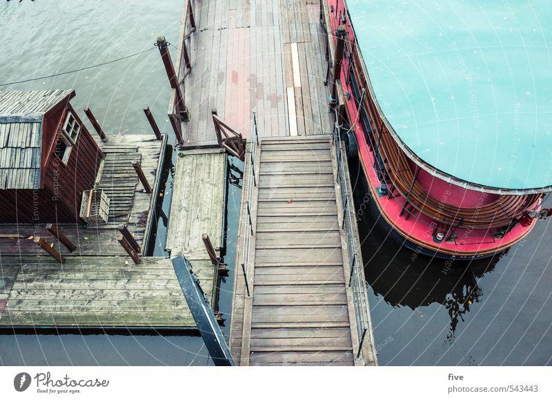 hausboot Wasser Herbst Fluss Stadt Hauptstadt Stadtzentrum Haus Hütte Dach Wasserfahrzeug Schifffahrt Bootsfahrt Passagierschiff Hafen Anker fahren Steg