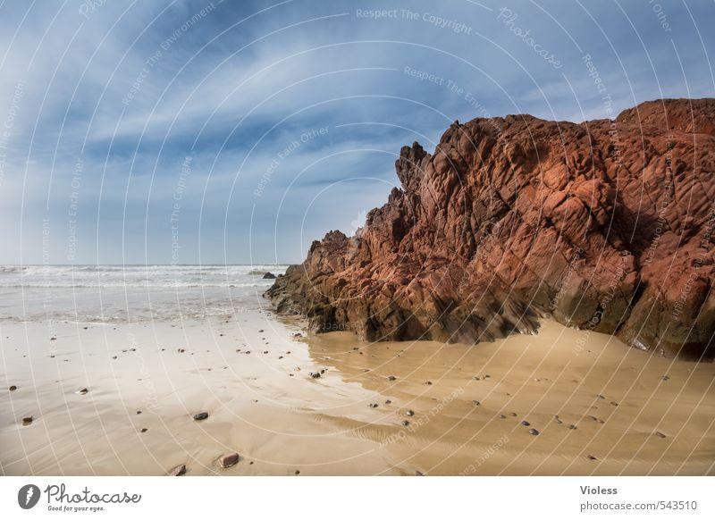 Fels in der Brandung Ferien & Urlaub & Reisen Sommer Meer Landschaft Strand Küste Felsen Kraft Tourismus Abenteuer entdecken Marokko