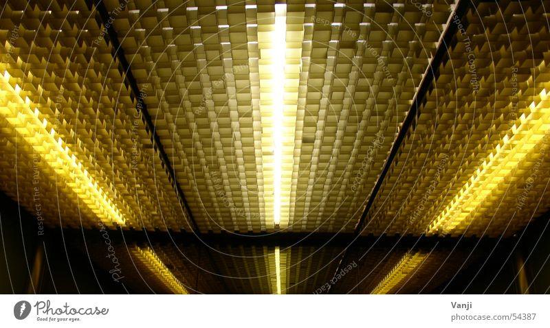 Strahlen Licht Neonlicht Spiegel Reflexion & Spiegelung Fahrstuhl Decke Laser retro Elektrisches Gerät Technik & Technologie Beleuchtung Strukturen & Formen