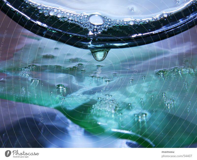 Tropfenwelt II Wasser glänzend Wassertropfen nass Blase
