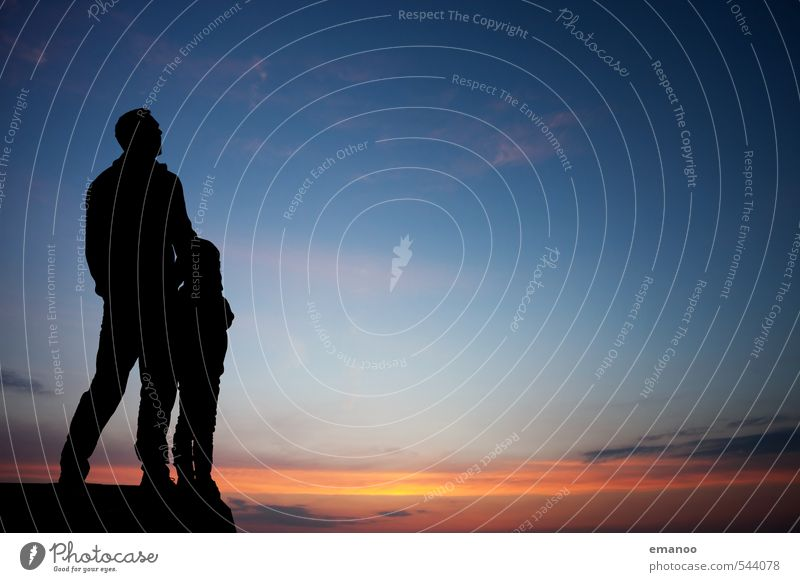 Vater/Sohn Lifestyle Freude Wohlgefühl Erholung Freizeit & Hobby Ferien & Urlaub & Reisen Ausflug Abenteuer Freiheit wandern Mensch maskulin Kind Mann