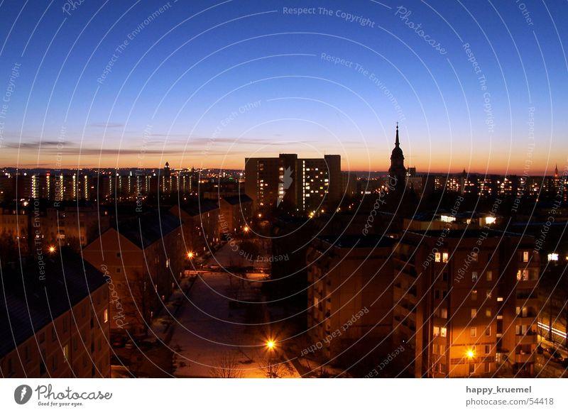 Skyline DD Dresden Stadt Nacht Panorama (Aussicht) groß