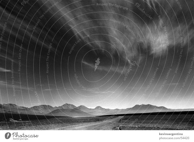 Die Grenze Himmel Berge u. Gebirge Landschaft glänzend Wüste Grenze Südamerika Chile Bolivien