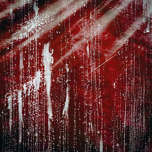 Folie Lifestyle elegant Stil Design Kunststoff außergewöhnlich trashig rot schwarz weiß Farbe Vorhang Hintergrundbild Farbfoto Außenaufnahme abstrakt Muster