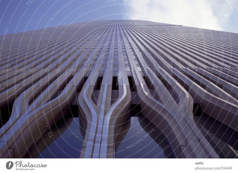 WTC Farbe Glas Fassade USA analog Stahl Amerika New York City Manhattan Dia New York State