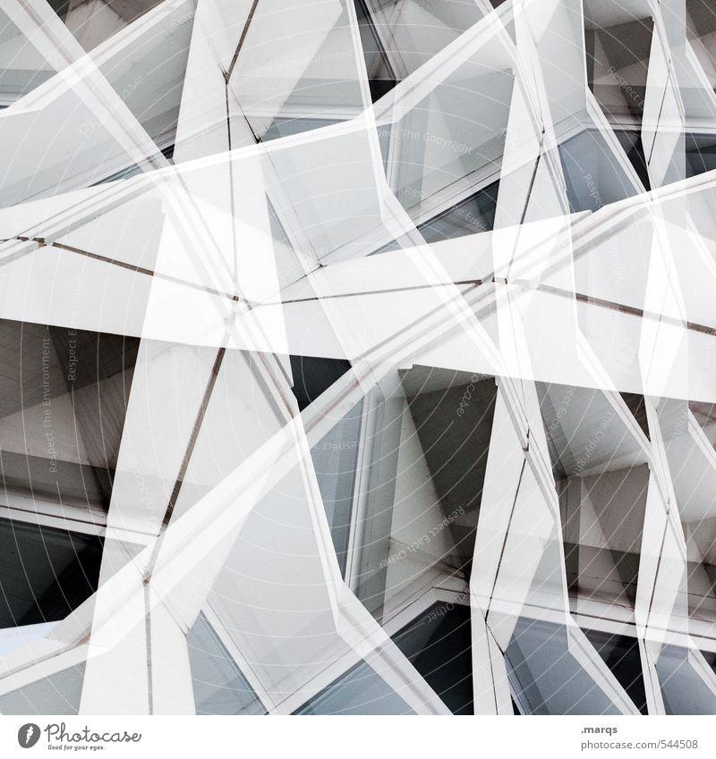 Konstrukt Lifestyle elegant Stil Design Kunst Bauwerk Gebäude Architektur Fassade Kunststoff Linie außergewöhnlich eckig hell trendy einzigartig modern verrückt