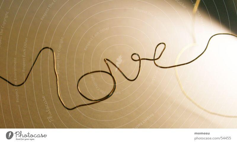 love Liebe Draht gekrümmt Golddraht