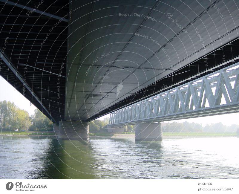 under the bridge Fototechnik Brücke Fluss Wasser