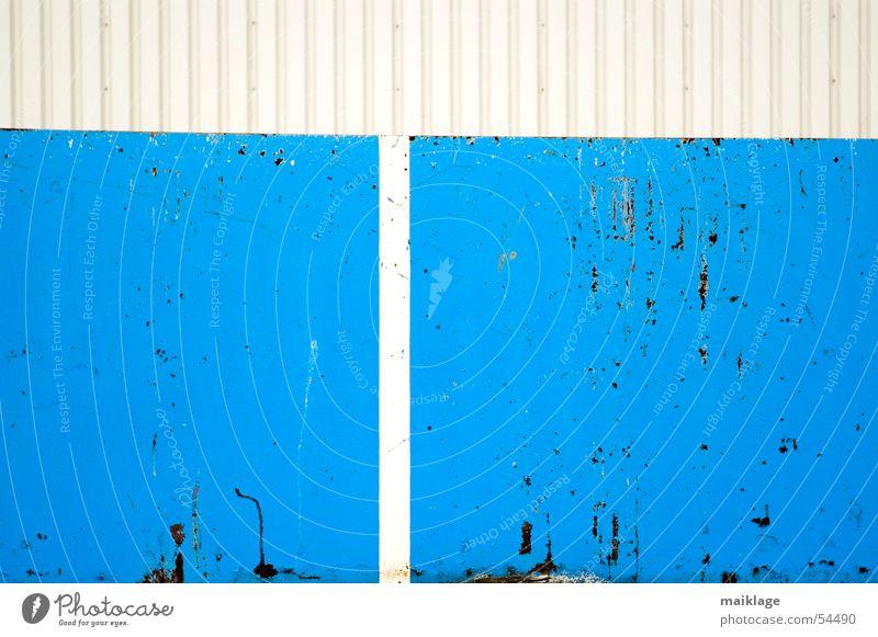 blauweiss alt weiß Metall Linie Hintergrundbild Rost
