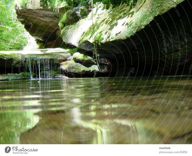 idylle Wasser träumen Felsen Idylle Frieden