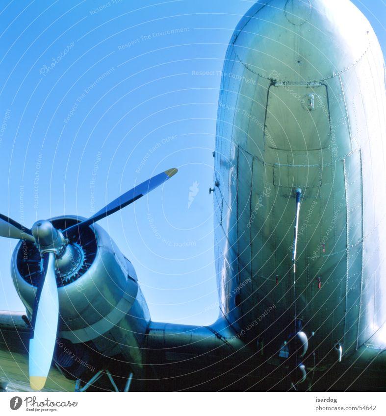 Ready for take off Himmel blau Flugzeug Perspektive