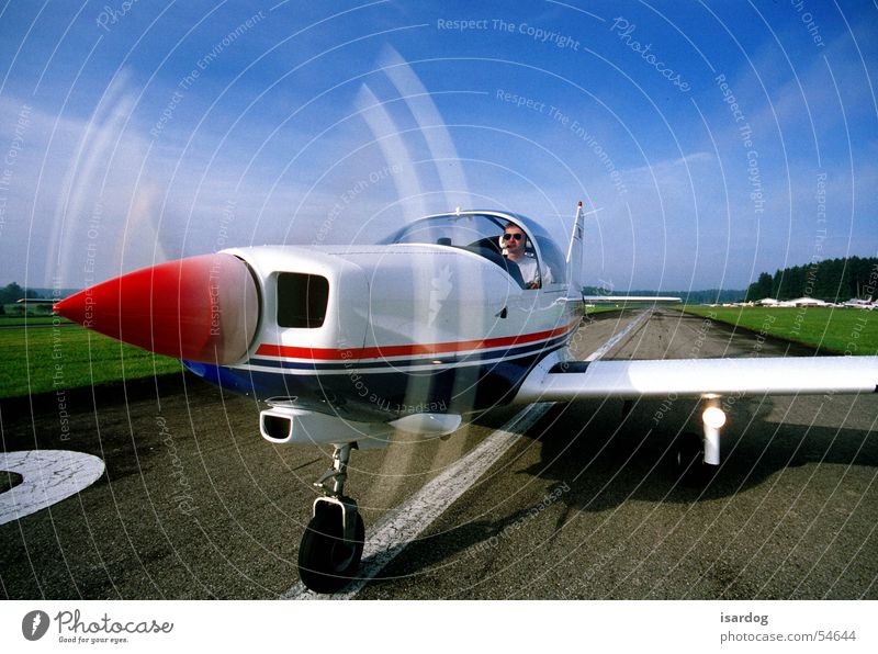 Ready for take off III Flugzeug Sportflugzeug Flugplatz Himmel Beginn