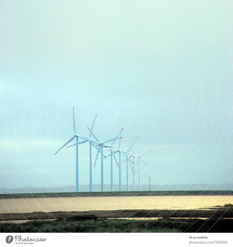 inside landscapes Ferne Energiewirtschaft Erneuerbare Energie Windkraftanlage Umwelt Natur Landschaft Luft Himmel Küste Fjord Nordsee Dänemark Zukunft Windrad