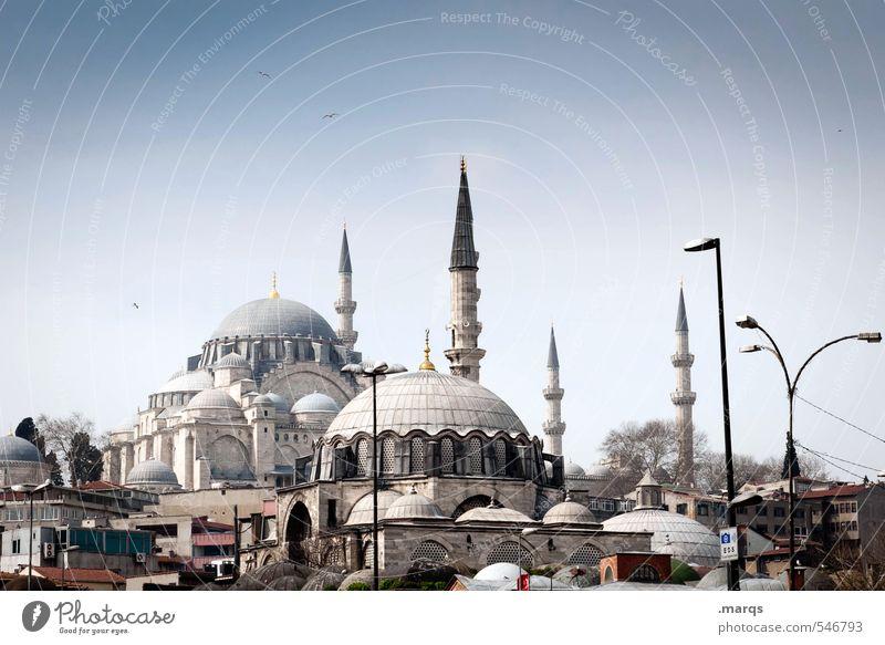 Istanbul City Center Ferien & Urlaub & Reisen Tourismus Ausflug Sightseeing Städtereise Kultur Wolkenloser Himmel Sommer Schönes Wetter Türkei Stadtzentrum