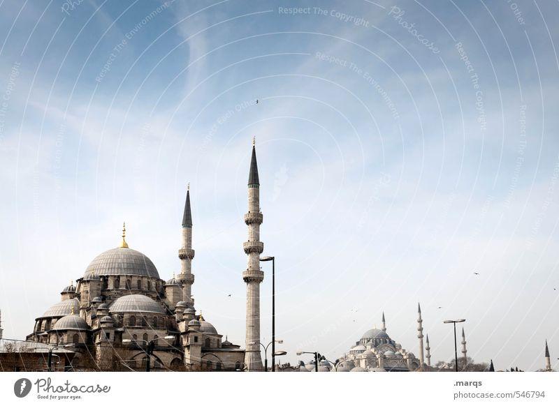 Moschee(n) Himmel Ferien & Urlaub & Reisen schön Sommer Gebäude Architektur Religion & Glaube Lifestyle Tourismus Schönes Wetter Zeichen Kultur historisch Bauwerk Sommerurlaub Wahrzeichen