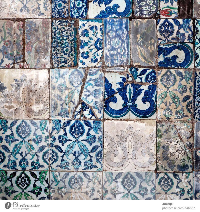 patchwork blau wei wand ein lizenzfreies stock foto von photocase. Black Bedroom Furniture Sets. Home Design Ideas