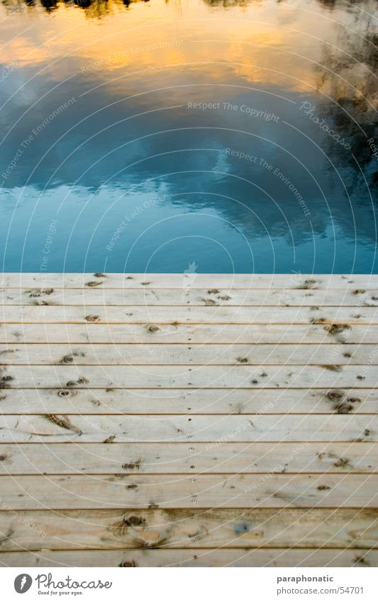 HerbstSteg Wasser Himmel Meer Winter ruhig Wolken Farbe Erholung Herbst Holz See Deutschland Brücke Spiegel Steg Holzbrett