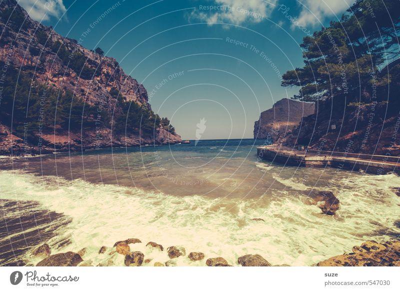 Rutscht gut rein :) Himmel Natur Ferien & Urlaub & Reisen Sommer Baum Meer Einsamkeit Landschaft Strand Umwelt Berge u. Gebirge Wärme Küste Erde Wellen Idylle