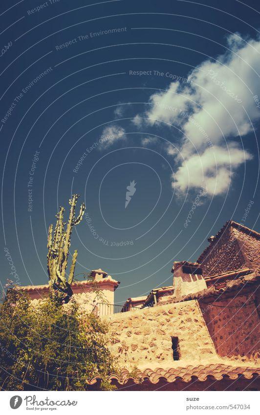 Einheimischer Himmel Natur Ferien & Urlaub & Reisen alt Sommer Einsamkeit Haus Umwelt Wärme Wand Reisefotografie Mauer Architektur Fassade Häusliches Leben
