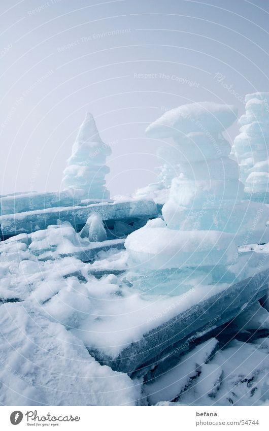 Eistürme Eis Chiemsee