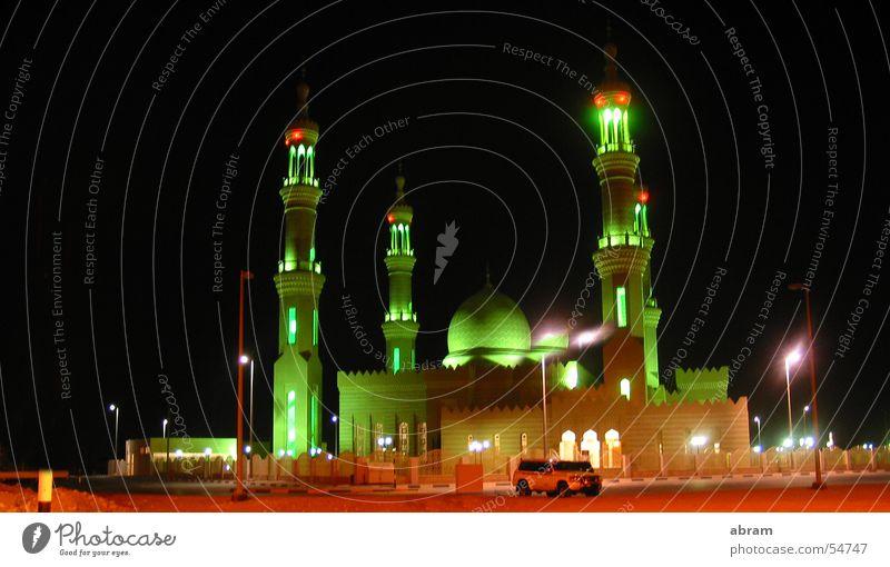 moschee nahe abu dhabi Freude Freiheit Religion & Glaube groß Turm Wüste Leidenschaft Reichtum Lichtspiel Islam Naher und Mittlerer Osten Moschee Gotteshäuser