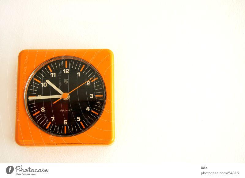 Neu-Zeit orange Zeit retro Uhr Siebziger Jahre Sechziger Jahre Uhrenzeiger Wanduhr