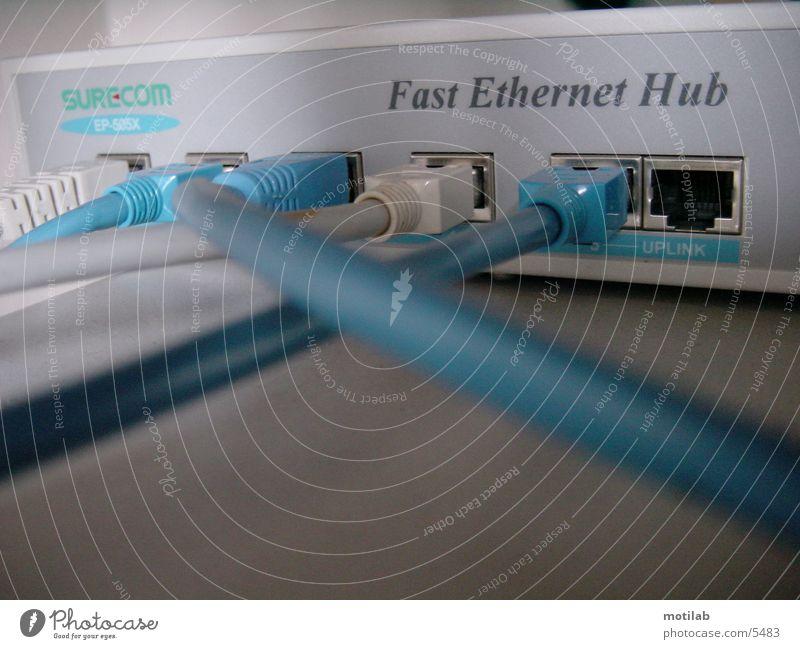 Hub Flugzeugträger verbinden Elektrisches Gerät Technik & Technologie ethernet link Kabel