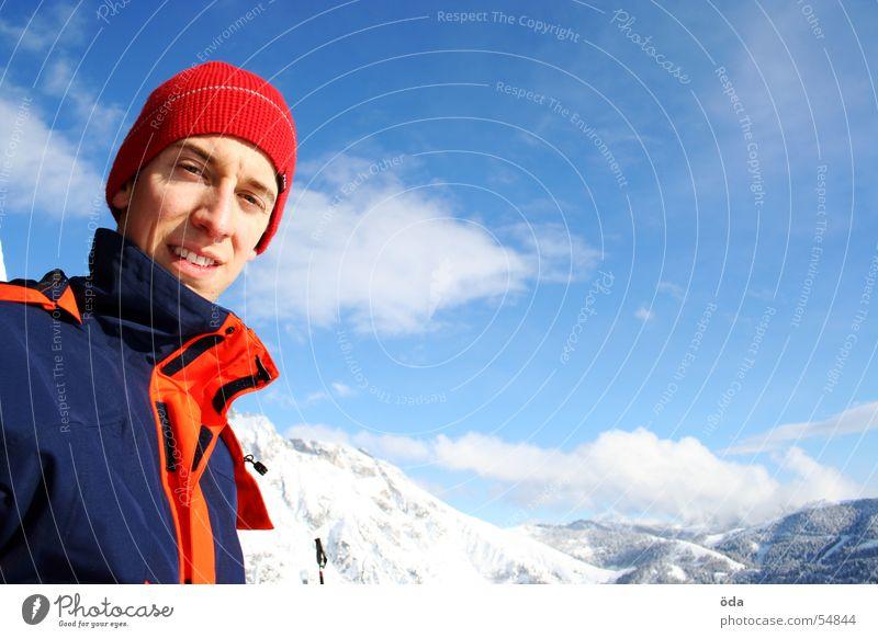 schnee und sonne - ein wintertraum Mammut extrem Jacke Winter Porträt Wolken kalt alpin Schnee Berge u. Gebirge Gesicht Himmel