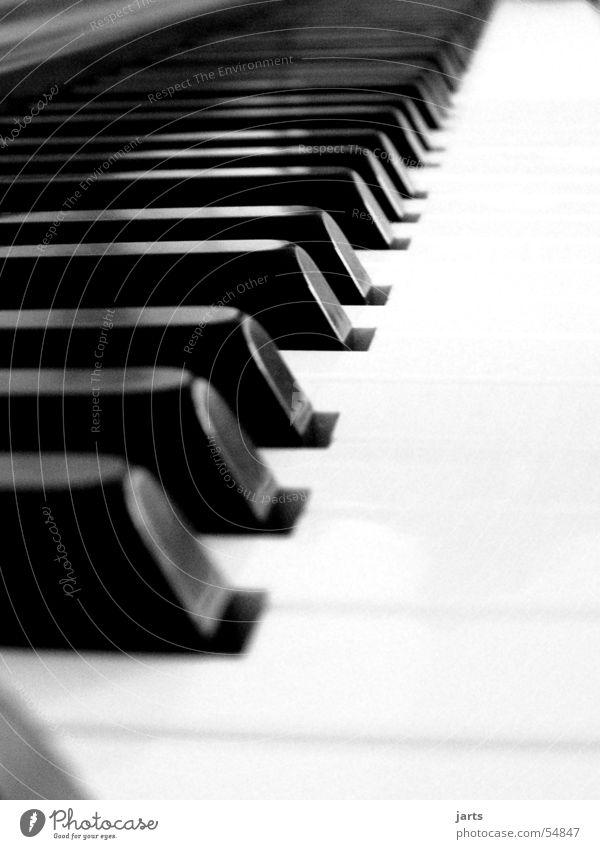 ...ganz Piano Klavier Musikinstrument Medien Freude berühren Musiknoten Schwarzweißfoto jarts