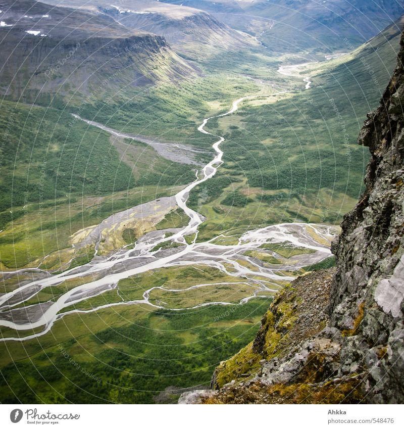 Panta Rhei Natur grün Landschaft ruhig Ferne Berge u. Gebirge Gefühle Wege & Pfade Freiheit Felsen träumen Zufriedenheit wandern Ausflug lernen Klima