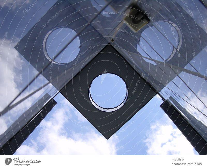 LuftLoch Haus Gebäude Reflexion & Spiegelung Architektur Perspektive Himmel