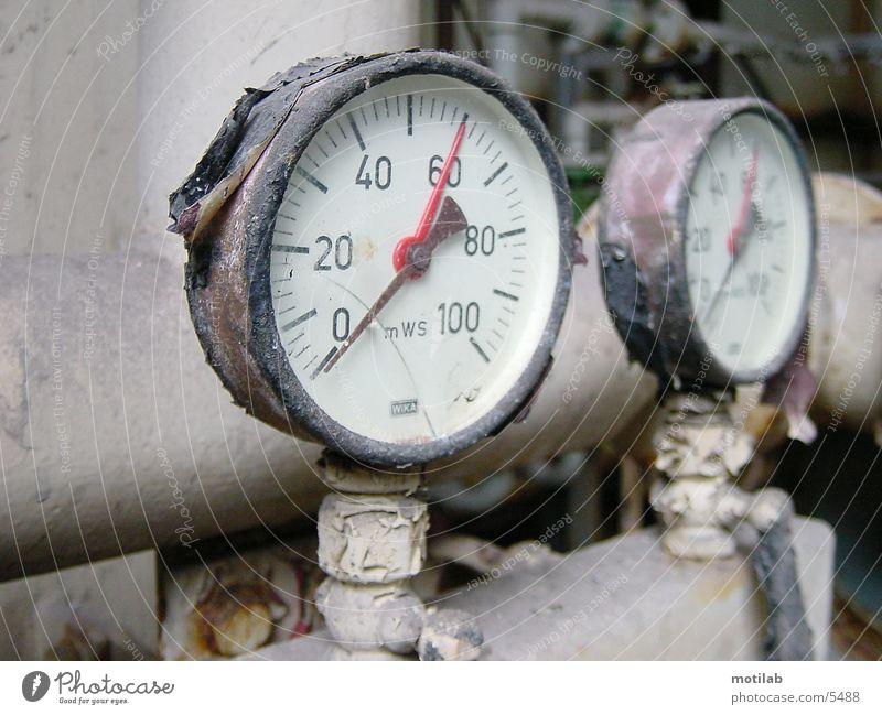 alte Messuhren Industrie Uhr Verfall Anzeige Messanzeige