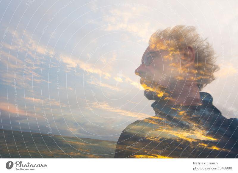. Mensch Himmel Natur Mann Sonne Erholung Landschaft gelb Erwachsene Umwelt Haare & Frisuren Kopf Luft maskulin 45-60 Jahre Energie