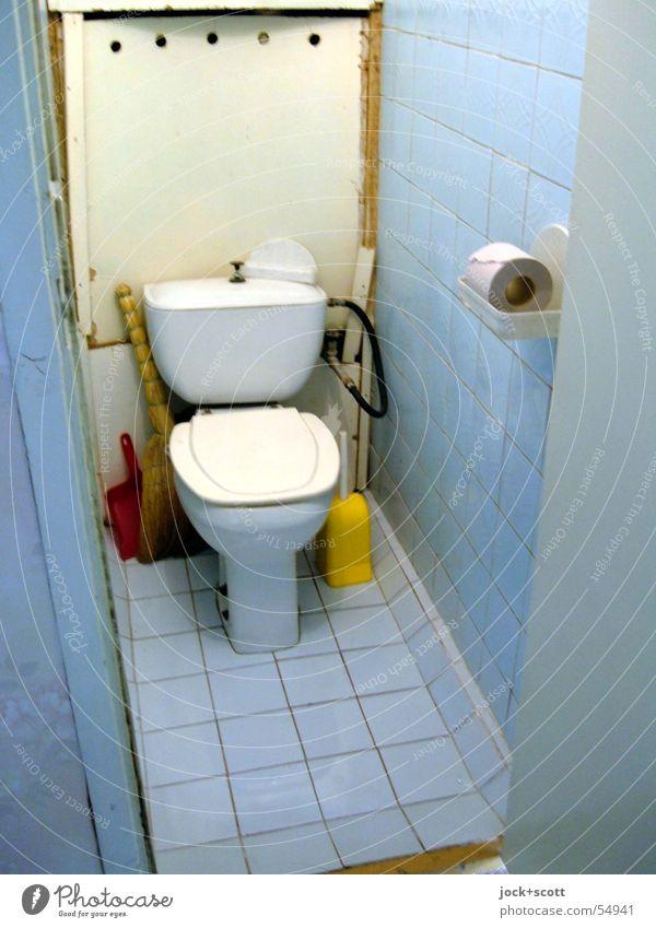 [tualjet] stilles Örtchen Stil Duft Bad WCsitz Bürste Toilettenpapier authentisch einfach kalt retro blau Reinlichkeit Sauberkeit Kultur Nostalgie
