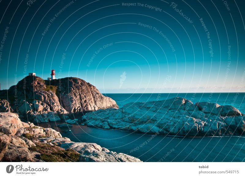 Norway No.3 Himmel Natur blau Wasser Meer Einsamkeit Landschaft Ferne Küste Freiheit grau Glück Felsen Horizont braun Schönes Wetter