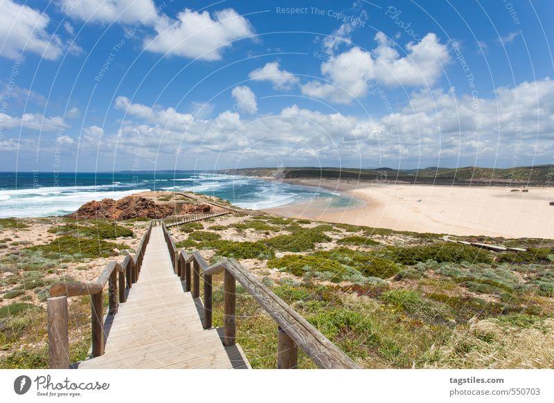 PRAIA DA BORDEIRA Portugal Algarve Praia da Bordeira Brücke Felsalgarve Ferien & Urlaub & Reisen Reisefotografie Idylle Postkarte Tourismus Paradies himmlisch