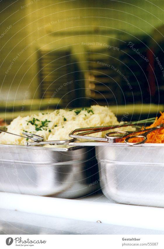 Salat für alle Ernährung Metall Küche Schalen & Schüsseln Speisesaal Salatbeilage Ausgabe Petersilie Krautsalat Salatbesteck Karottensalat