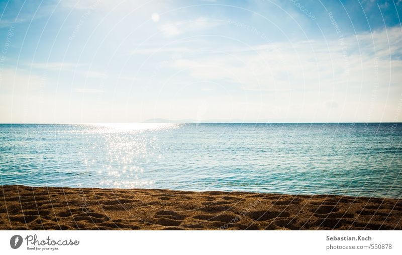 Summerfeelings Himmel Natur Ferien & Urlaub & Reisen Wasser Sommer Sonne Meer Erholung Landschaft Wolken Freude Strand Ferne Umwelt Leben Gefühle