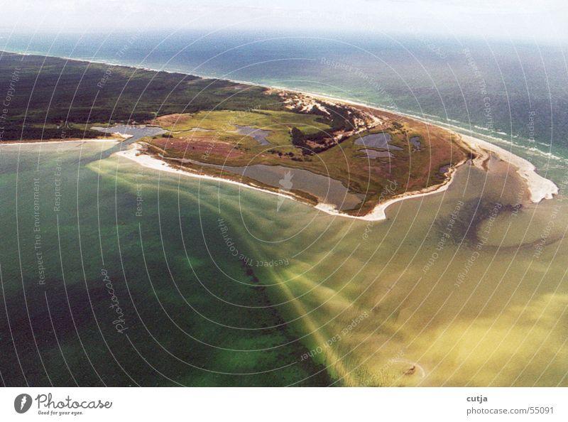 beim fliegen Meer Insel Ostsee Sandbank