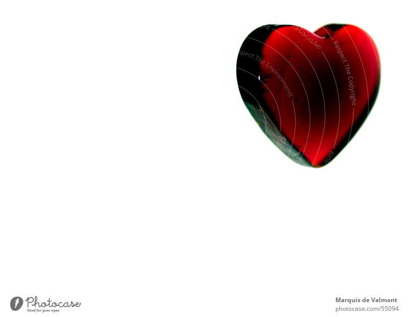 Kaltes Herz...? rot Liebe Herz glänzend Glas Dekoration & Verzierung Dinge Partnerschaft Valentinstag