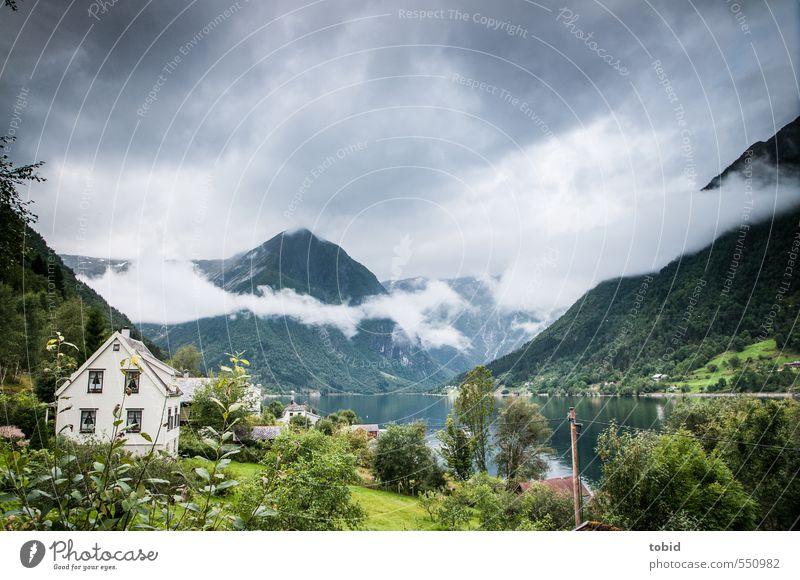 Norway No.1 Himmel Natur Ferien & Urlaub & Reisen Wasser Pflanze Baum Landschaft Wolken Haus Wald dunkel Berge u. Gebirge Wiese Gras Küste grau