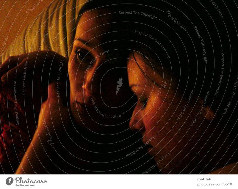 verträumt Frau Mensch Liebe träumen harmonisch friedlich
