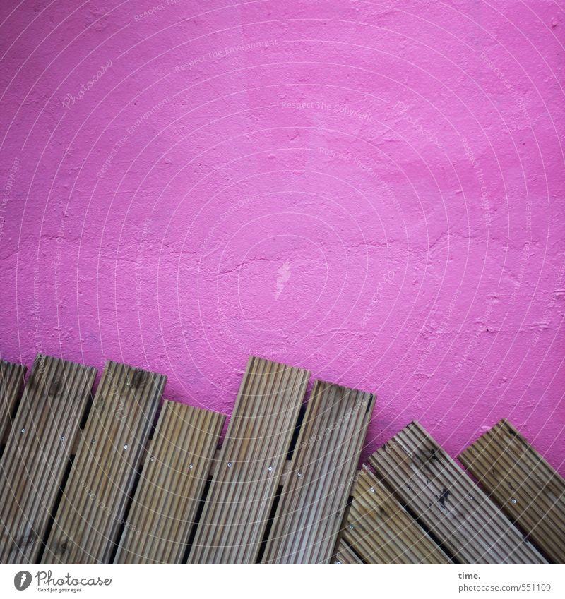 /////\\\ alt Stadt Wand Leben Mauer Holz Stein braun Stimmung rosa Fassade Ordnung Häusliches Leben Design Kreativität Lebensfreude