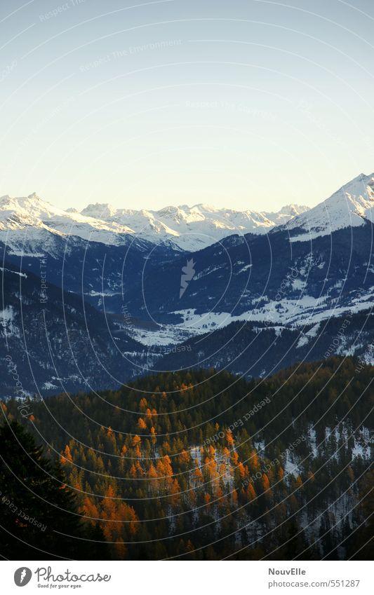 I love Switzerland. Umwelt Natur Sonne Sonnenlicht Winter Schnee Alpen Berge u. Gebirge Gipfel Schneebedeckte Gipfel authentisch fantastisch Glück kalt